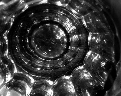 The bottom of a shotglass.