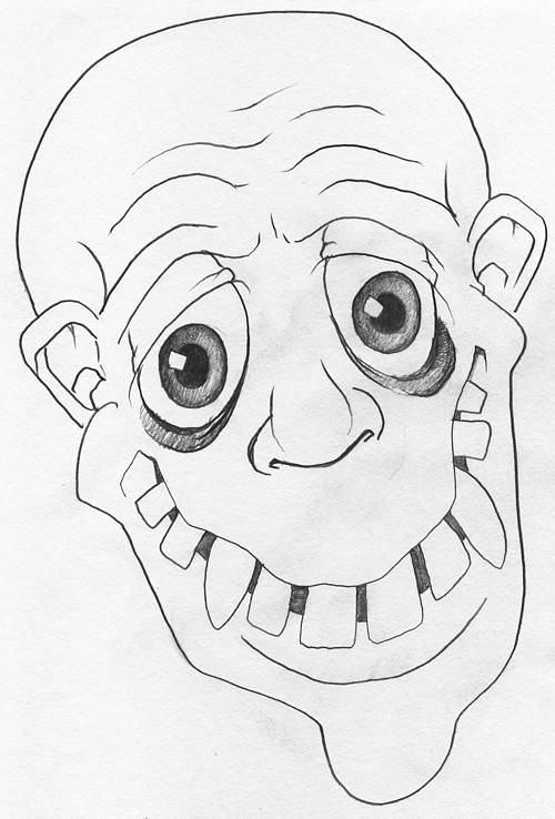 Snaggle toothed Fester-looking guy.