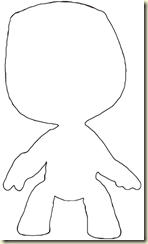 Sackboy Outline
